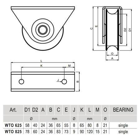 CA WTO 625 - pojezdové kolečko profilu C - 3