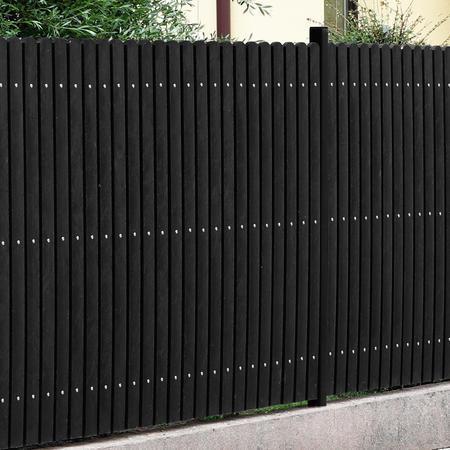 Recyklát černá půlkulatá 78x21x600 mm, Výška 600 mm - 3