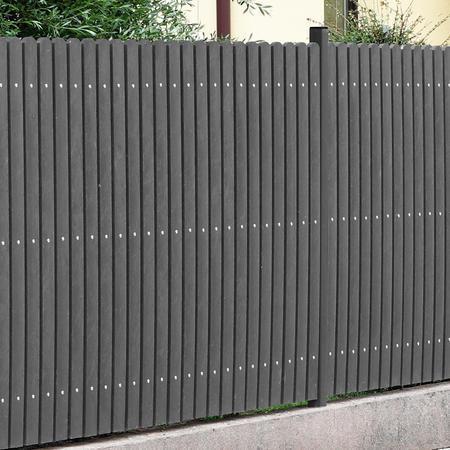 Recyklát šedá půlkulatá 78x21x1200 mm, Výška 1200 mm - 3