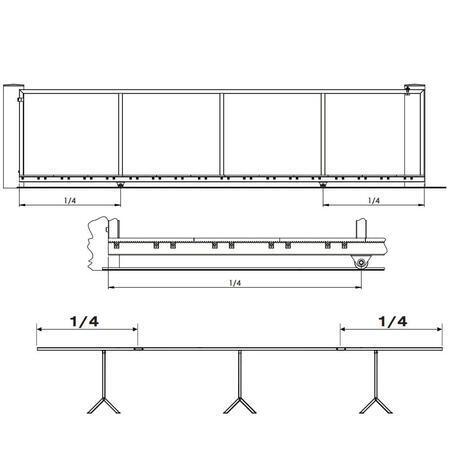 SADA CA X-TRACK WTO 825 FRS - pro posuvnou bránu do 4,5m - 3