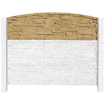 Betonový panel štípaný kámen 1-str. pískovec  2000x600x40 mm oblouk - 4