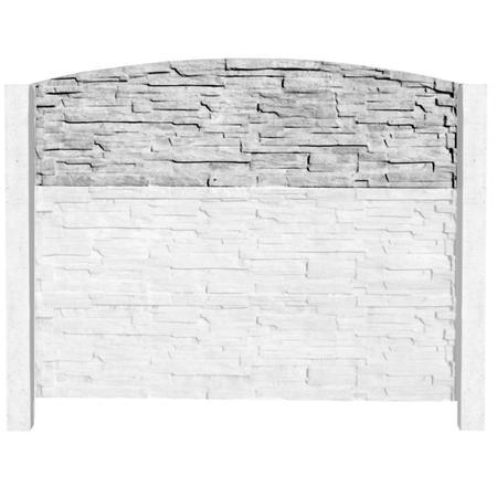Betonový panel štípaný kámen 1-str. přírodní  200x60x4 oblouk - 4