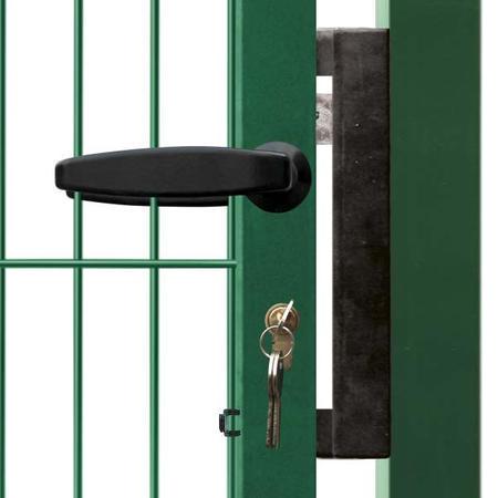 Brána Pilofor Super 4090 mm, svařovaný panel, FAB, zelená, výška 1980 mm, výška 1980 mm - 4