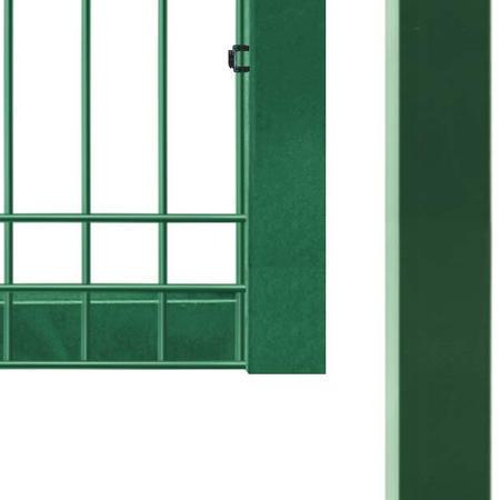 Brána Pilofor 4118 mm, svařovaný panel s prolisem, FAB, zelená - 4