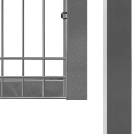 Brána Pilofor 4118 mm, svařovaný panel s prolisem, FAB, zinek, výška 1045 mm, výška 1045 mm - 4