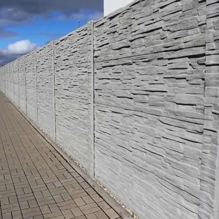 Betonový panel štípaný kámen 2-str. přírodní  2000x500x40 mm - 4