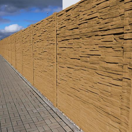 Betonový panel štípaný kámen 2-str. pískovec  2000x600x40 mm oblouk - 4