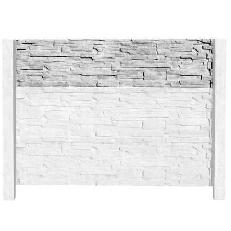 Betonový panel štípaný kámen 1-str. přírodní  2000x500x40 mm - 5