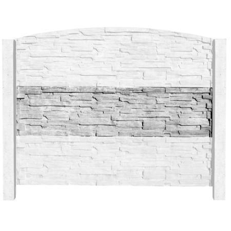 Betonový panel štípaný kámen 2-str. přírodní  2000x500x40 mm - 5