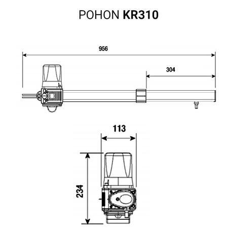 CAM KRONO MAXI - pohon dvoukřídlé brány do 5m / 1600 kg - 6