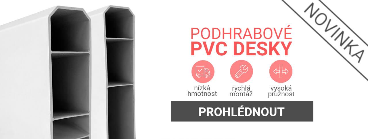 PVC podhrabová deska