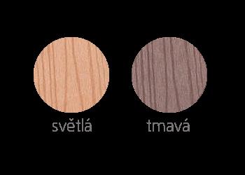 barevné varianty plotovek Dřevoplus Profi